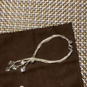 Sterling heart bracelet new